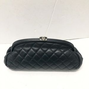 Chanel timeless kiss lock clutch